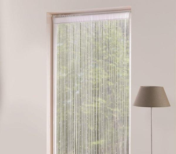 caravaning fadenvorhang wei e perlen 210 x 90 cm. Black Bedroom Furniture Sets. Home Design Ideas